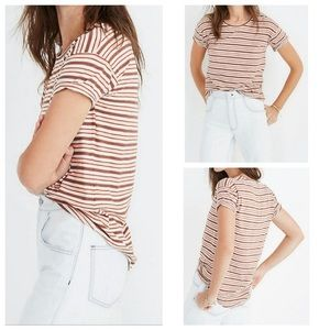 Madewell   striped tee shirt